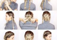 Awesome 55 easy updos to look effortlessly chic Braided Updos For Long Thick Hair Ideas