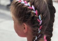 Awesome 8 ribbon braid hairstyles for little girls hairstylecamp Crocheted Ribbon Braided Hairstyle Inspirations