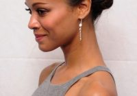 Awesome african american daily hairstyles zoe saldana cute simple Easy Hairstyles For Short African American Hair