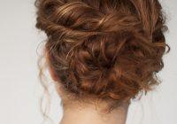 Awesome curly hair tutorial easy twisted bun hairstyle hair romance Easy Bun Hairstyles For Short Curly Hair Ideas