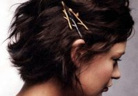 Awesome fancy bob pins for short hair hair styles short hair Short Hair Bobby Pin Styles Ideas