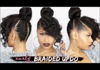 Awesome french braided curly updo natural hair tutorial youtube Braided Updo Styles For Black Hair Inspirations