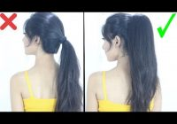 Awesome new high ponytail hairstyle for school college work long Cute Ponytails For Short Hair For School Ideas