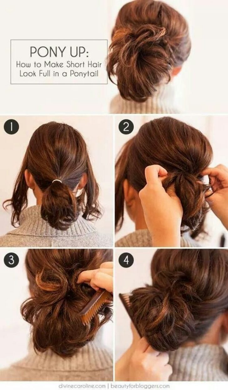 Permalink to Beautiful Cute Ponytails For Short Hair