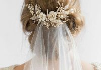 Awesome top 8 wedding hairstyles for bridal veils Short Hair Wedding Styles With Veil Choices