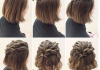 Awesome updo hairstyles tutorials for girls with short hair Short Hair Styles Updos Inspirations