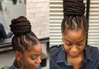 Best 23 braided bun hairstyles for black hair page 2 of 2 Bun Styles With Braiding Hair Inspirations