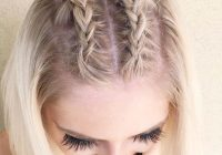Best 35 cute braided hairstyles for short hair lovehairstyles Pretty Hair Styles For Short Hair Inspirations