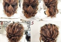 Best awesome cute short hair updos for prom simple prom hair Easy Hairdos For Short Hair Pinterest Choices