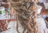 Best bride french braid hairstyle wedding hairdo stock photo French Braid Hairstyles For Weddings Ideas