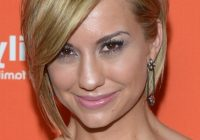 Best chelsea kane layered short haircut with side swept bangs Short Hair With Side Swept Bangs And Layers Ideas