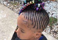 Best little black girl with her hair cornrowed into a ponytail of Little Black Girl Braided Hairstyles Choices