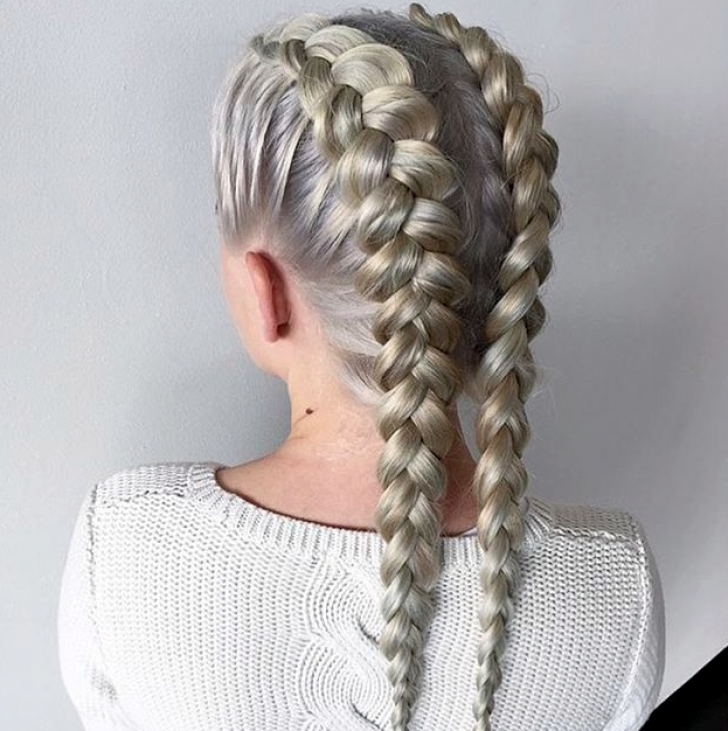 Permalink to White Hair Braid Styles