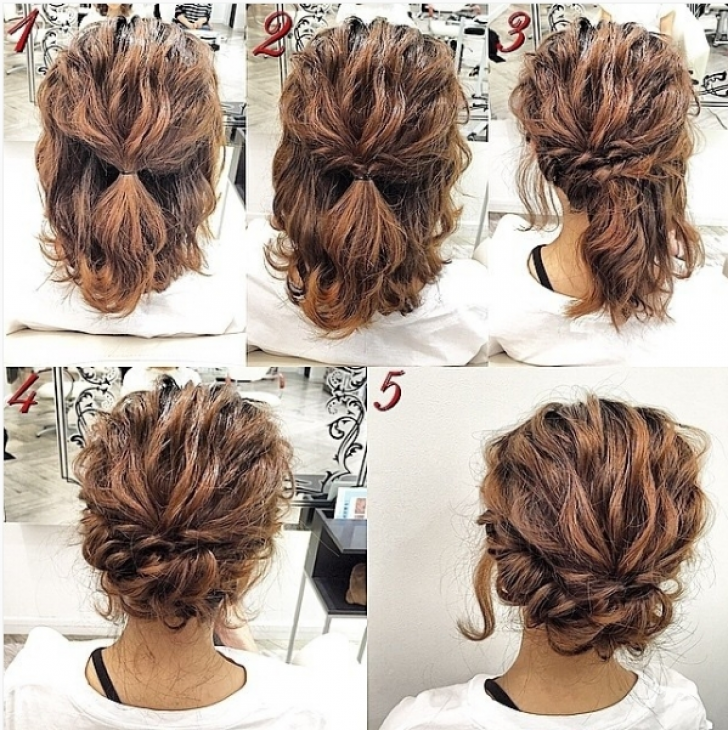 Permalink to 10   Cool Easy Updos For Short Hair Ideas