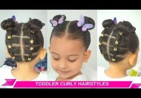 Best toddler girl easy curlywavy hairstyles rubberband updo Short Curly Hairstyles For Toddlers Inspirations