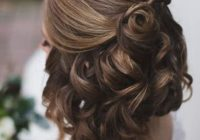 Best wedding hairstyles for short hair half up half down hair Prom Hairstyles For Short Hair Half Up Half Down Curly Inspirations