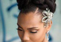 bride wedding hair african american hair natural hair Natural Hair Wedding Styles African American Designs