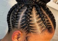 Cozy 23 amazing feed in braids with high bun styles for 2019 Braided Bun Hairstyle AfricanAmerican Ideas