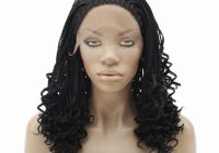 Cozy african american micro braided lace wig lace front synthetic braided wigs kinky curly braiding hair heat resistant African American Micro Braid Wigs Ideas