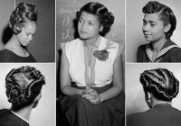 Cozy hairstyles worn african american women in the 40s 50s Vintage African American Hairstyles Ideas