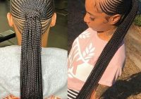 cute braided ponytail hairstyles for black hair braided Stylish Cornrows For African Hair