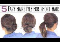 easy short hair updo youtube Easy Hairdos For Short Hair Inspirations