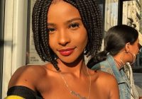 Elegant 105 best braided hairstyles for black women to try in 2020 Short Braid Styles For Black Hair Ideas