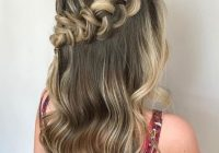 Elegant 24 top curly prom hairstyles 2019 update Prom Hairstyles For Medium Hair With Curls And Braids Ideas