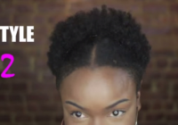 Elegant 3 ways to style a failed twistout or braidout on short Braid Out Styles On Short Natural Hair Inspirations