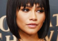 Elegant 30 short hair with bangs hairstyles to try Short Hair With Full Fringe Inspirations