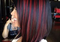 Elegant 35 sexy black hair with highlights you need to try in 2020 Short Black Hair With Blonde And Red Highlights Ideas
