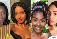 Elegant 40 lovely braided bob hairstyles you must apply in 2020 African Hair Styles Braids Choices