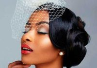Elegant 43 black wedding hairstyles for black women in 2020 Vintage Wedding African American Hair