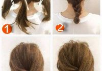 Elegant 50 incredibly easy hairstyles for school to save you time Cute Fast Hairdos For Short Hair Ideas