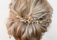 Elegant all about this updo with a brooch prom hairstyles for Short Hairstyles For Bridal Party Choices