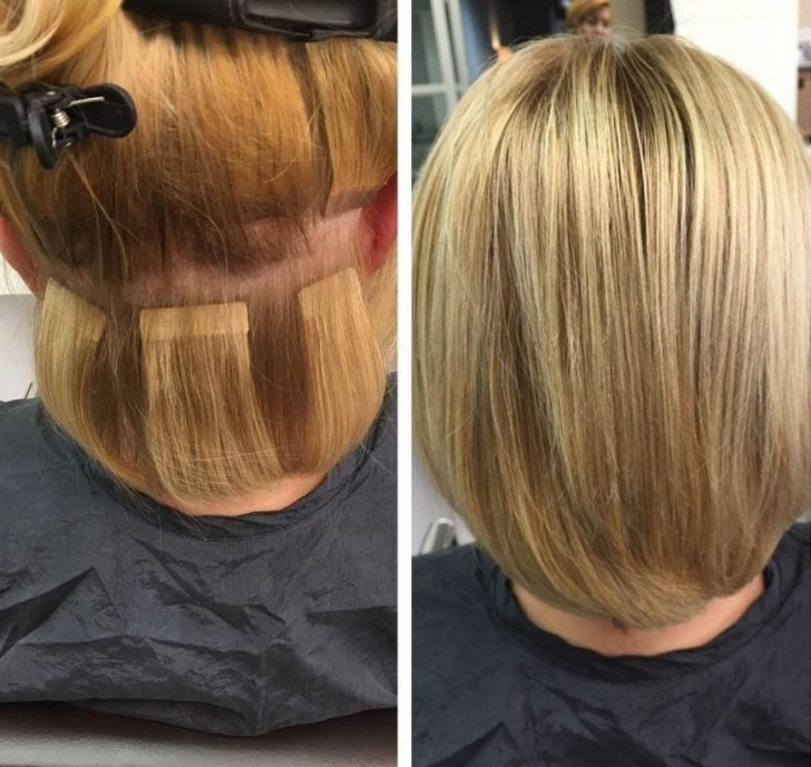 Permalink to 9 Beautiful Extension Styles For Short Hair