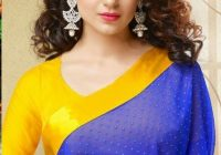 Elegant best hairstyle in long hair curly hair styles saree Hairstyles For Short Wavy Hair For Saree Choices