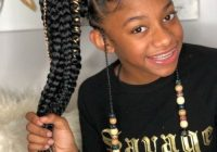 Elegant black kids hairstyles with braids beads and accessories Braided Hairstyles African American Kids Ideas