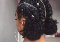 Elegant braids and buns protective hairstyles for natural hair best Protective Hairstyles For Short Natural Hair Pinterest Choices