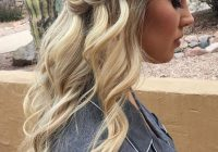 Elegant bridesmaid waterfall braid hairstyle inspiration hair Wedding Hairstyles For Long Hair Half Up Half Down With Braids Choices