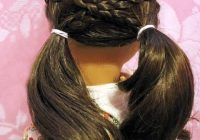Elegant cross over pigtails in 2020 american girl hairstyles Cute And Easy Hairstyles For Your American Girl Doll