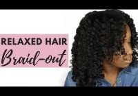 Elegant defined braidout on relaxed hair youtube Braid Out Styles Relaxed Hair Ideas