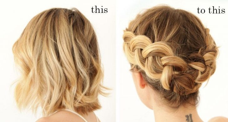 Permalink to Beautiful Braided Updo Hairstyles For Short Hair Gallery