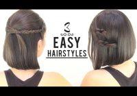 Elegant easy hairstyles for short hair Easy Hairstyles For Short Hair To Do At Home For School Inspirations