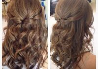 Elegant half up half down hair with curls hair styles curled Prom Hairstyles For Short Hair Half Up Half Down Curly Inspirations