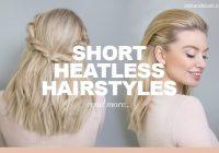 Elegant heatless hairstyles for short hair blog milk blush Easy Short Hair Style Inspirations