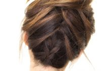 Elegant how to do the amazing tuxedo braid messy bun hairstyle French Braid Bun Hairstyles Tutorial Ideas