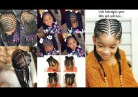 Elegant little girls braided hairstyle ogc youtube Braids Hairstyles For Small Girls Inspirations