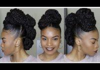 Elegant quick and neat bun and braid style using marley braiding Braid Styles With Marley Hair Ideas