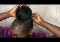 Elegant quick easy bun with jumbo braiding hair 4c hair Bun Styles With Braiding Hair Ideas